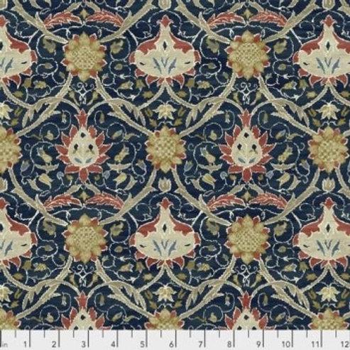 Free Spirit - Morris And Co - Floral Print - Navy And Multi (125PWWM019MEDIC)