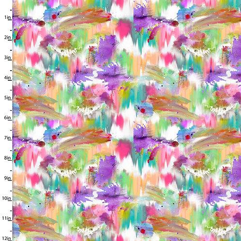 Quilting Cotton - Paint Stroke Print  - Multi