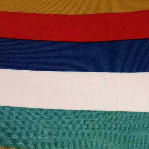 French Terry Loop Back Fabric - Rainbow Striped