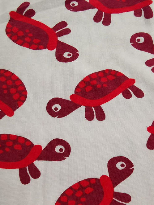 Remnant - Organic Cotton Jersey - Turtle Print - 1.75 Meters