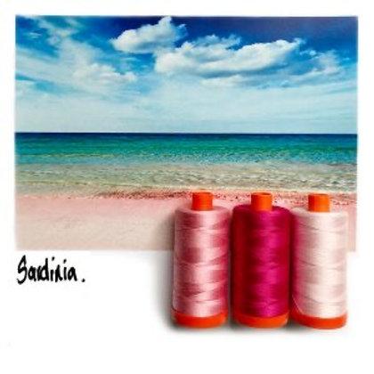 Aurifil - Colour Builders Thread Collection - Sardinia - Pinks