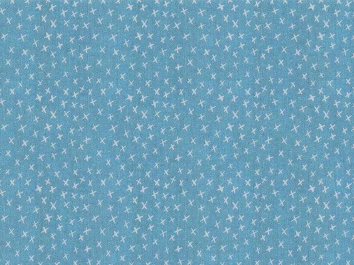 Lillestoff - Organic Cotton summersweat Jersey - Cross Print - Sky Blue