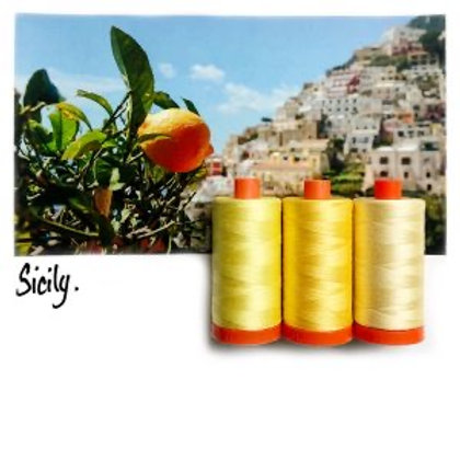 Aurifil - Colour Builders Thread Collection - Sicily - Yellows