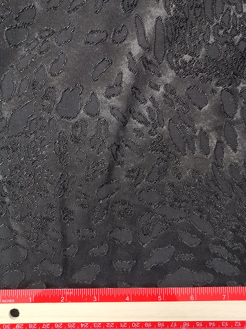 Dress Fabrics -  Polyester - Textured Black - OC 100/116