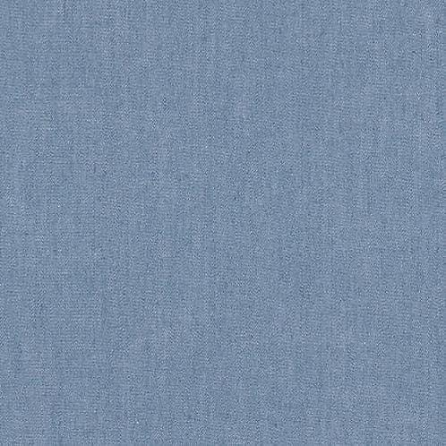 Dress Fabric - 100% Cotton Chambray - Light Blue