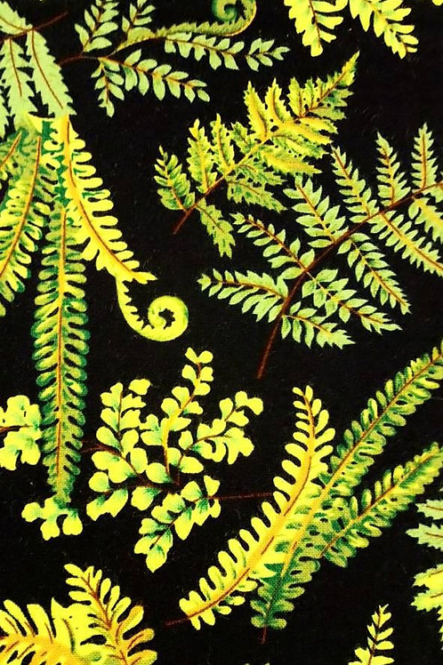 Quilting Cotton - Nutex - Fernlea - 7360 - 101 - Black And Green