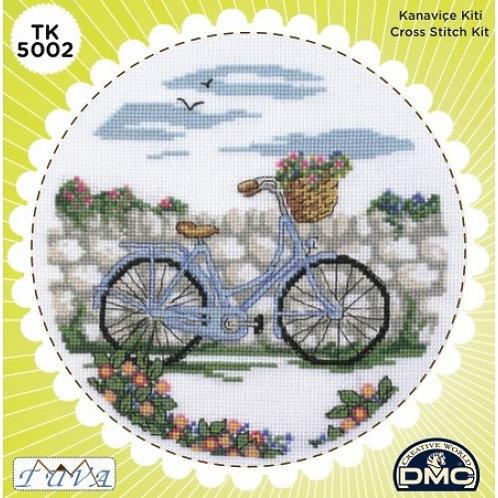 DMC - Cross Stitching Kit in Tin - Beautiful Bicycle Pattern