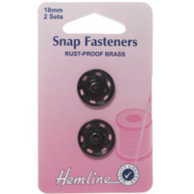 Brass Snap Fasteners - 18mm - 2 Sets