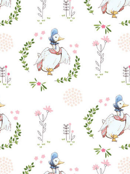 Quilting Cotton - Peter Rabbit Collection - Jemima Puddleduck - 2565-D3
