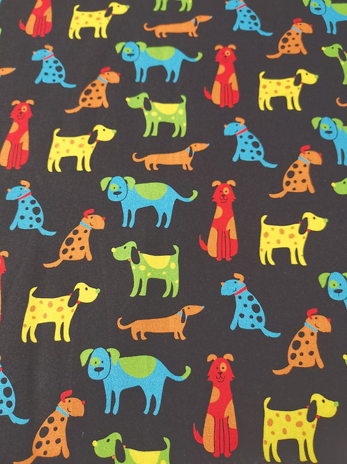 Happy paws  by nutex cotton - Dog Print - Black And Multi