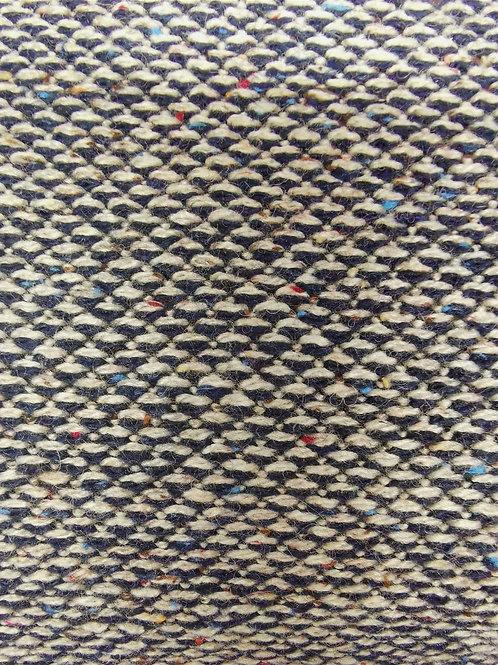 Dress Fabric - Wool Mix - Dark Blue And Multi