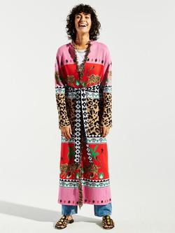 Hayley Menzies Leopadess Duster Knitwear Cardigan