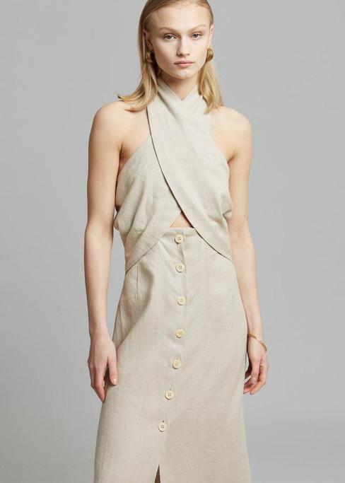 nanushka-soffio-linen-halter-dress-taupe