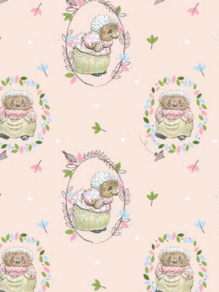 Quilting Cotton - Peter Rabbit Collection - Mrs Tiggywinkle- 2565-D5