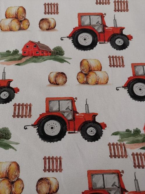 French Terry Loop Back Fabric - Farmyard Print