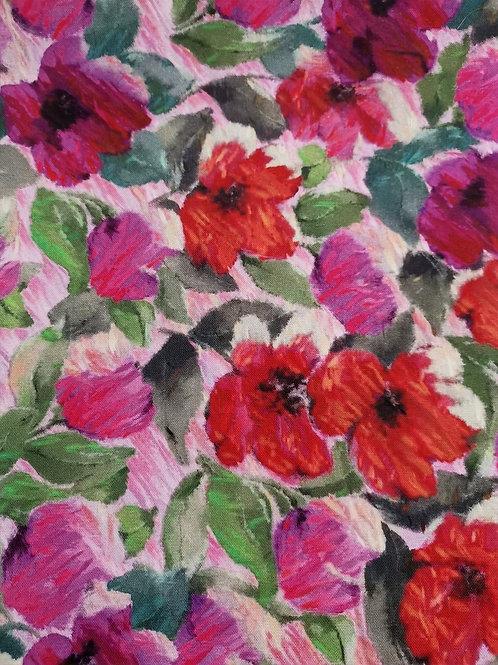 Dress Fabric - 100% Cotton - Floral Print - Multi
