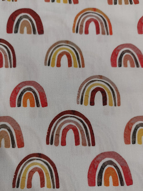 Quilting Cotton - Rainbow Print - White And Multi