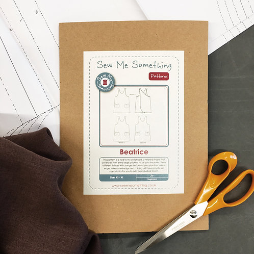 Sew Me Something - Beatrice Pinafore Dress (Sizes XS - XL)