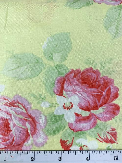 Free Spirit - Quilting Cotton - Tanya Whelan - Lola - Lola Roses Green - PTW104