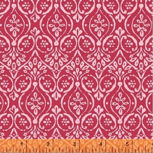 Free Spirit - Whistler Studios - Paisley Print - Red And Pink