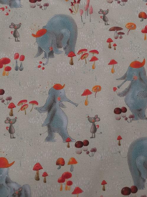 Lillestoff - Organic Cotton Jersey - Elephantl Print