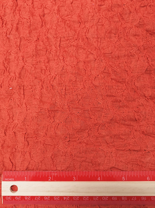 Dress Fabrics - Stretch Poly Cotton - Textured Orange - OC 100/112