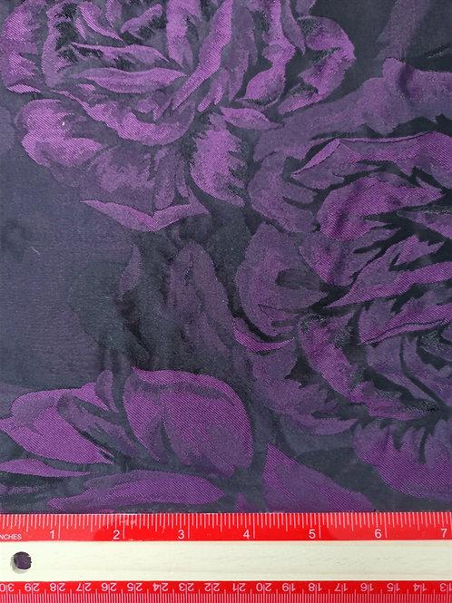 Dress Fabrics - Taffeta - Black and Purple - OC 100/113