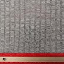 Dress Fabrics - Poly Cotton Mix - Ribbed Light Grey - 100/128