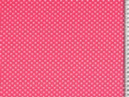 Cotton Jersey - Polka Dot - Pink And White