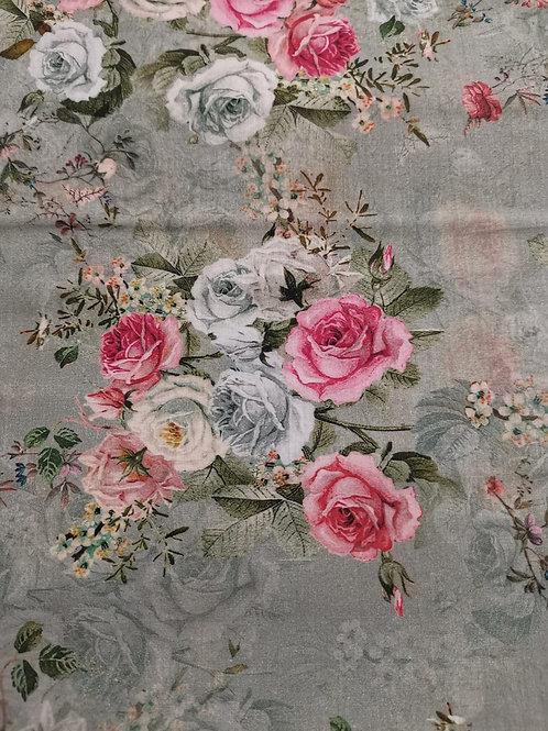 Remnant - 100% Cotton Lawn- Floral Print - 1.5 Meter