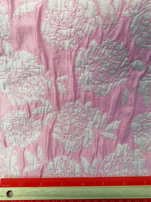 Dress Fabrics - Poly Cotton - Embossed Pink And Ivory - OC 100/120