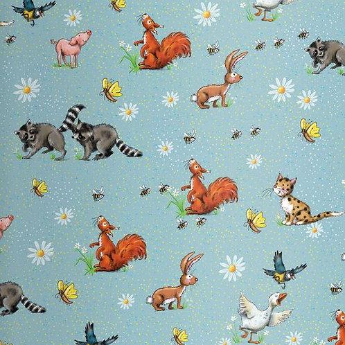 Lillestoff - Organic Cotton Jersey - Sweet Life - Woodland Animal Print