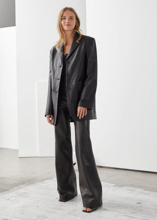Other Stories Leather Blazer