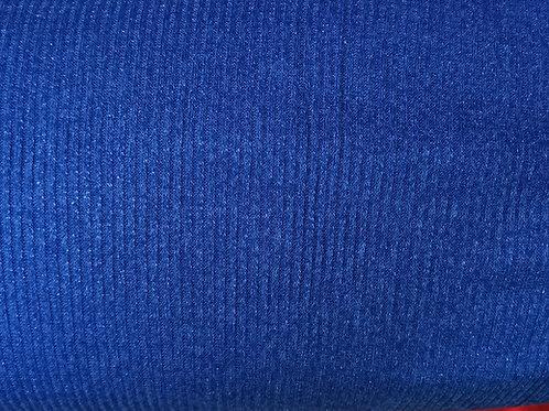 Dress Fabric - Stretch Knit metallic Fabric - Royal Blue