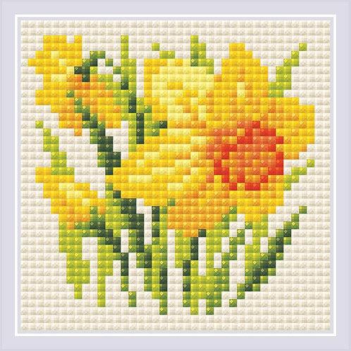 Diamond Mosaic - Riolis Collection - Yellow Narcissus