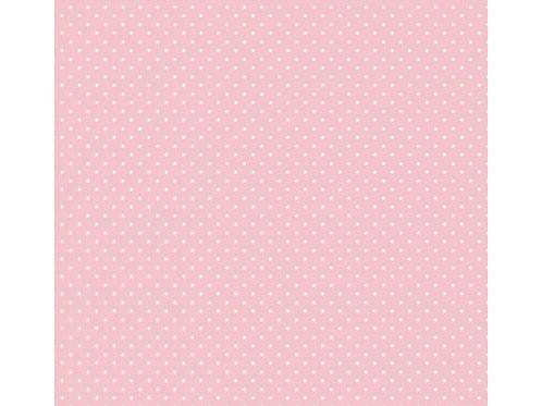 100% Cotton - Pinspot Print - Pale Pink And White