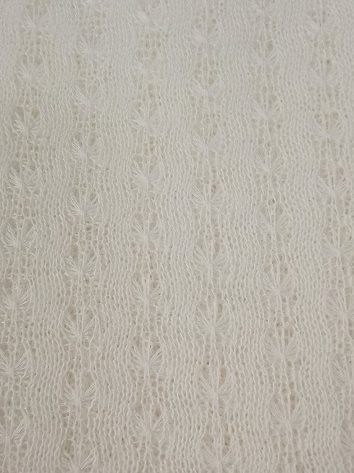 Dress Fabric - Cotton Pointenelle Fabric - Ivory
