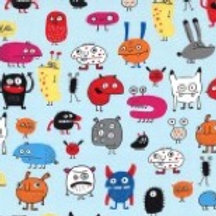 Michael Miller Fabrics - Elise Gavel - I Want A Monster - DC8422