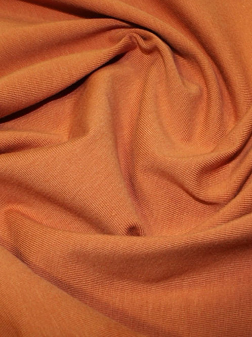 Organic Cotton Jersey - Pumpkin Orange