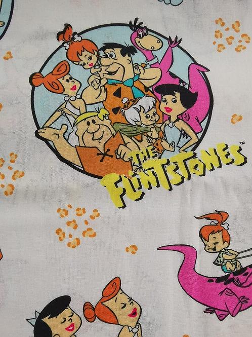 Remnant - 100% Cotton - Flintstone Print - 1.25 Meters