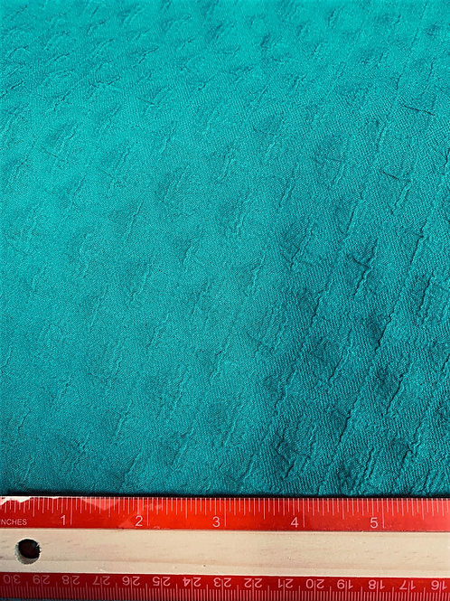 Dress Fabrics - Textured Stretch - Turquoise Green - OC100/094