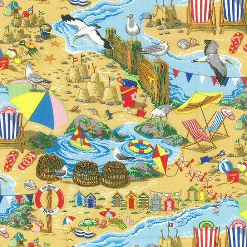 Quilting Cotton - Nutex - Fernlea - Seaside - 11030 - Beach