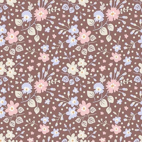 Quilting Cotton - Tilda - Plum Garden - Flower Confetti - Nutmeg -100189