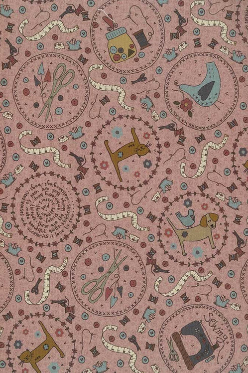 Lecien - One Stitch at a Time - Lynette Andersen - Animal Print Pink - 35074 20