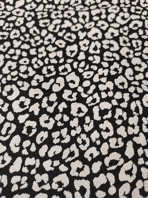 Quilting Cotton  - Animal Print - Black And White