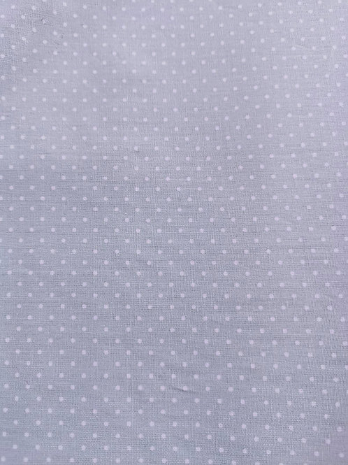 Remnant - 100% Cotton - Polka Dot Print - Pale Green - 1.5 Meter