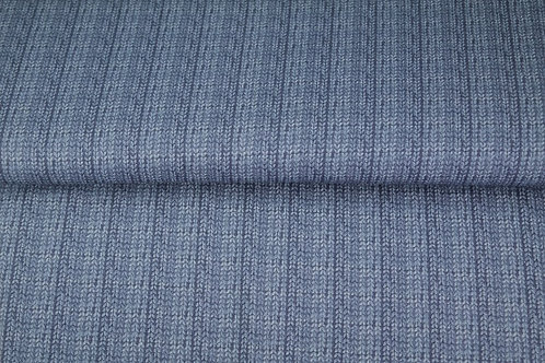 French Terry Jersey - Knit Effect - Digital Print - Blue