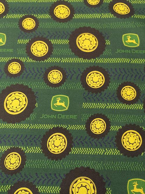 Quilting Cotton - John Deere Print - Dark Green And Multi