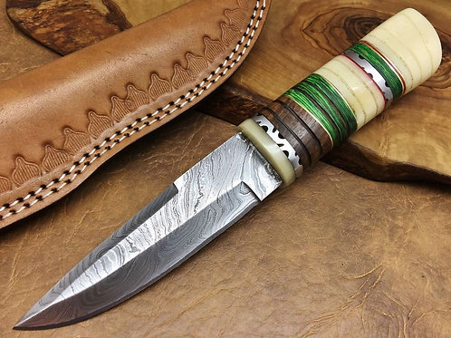 Damascus Steel Hunting Knife -332W