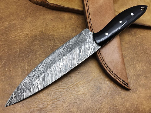 Damascus Kitchen Knife K7-H